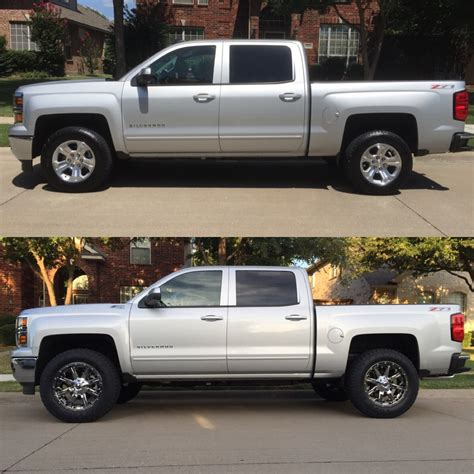 Gmc Sierra Leveling Kit Before And After