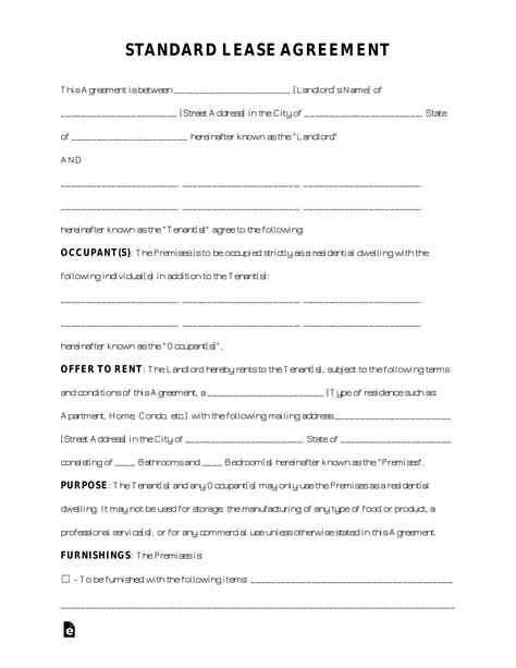 Free Online Rental Agreement Template