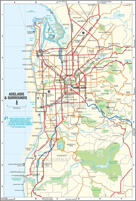 Map Of Adelaide Suburbs