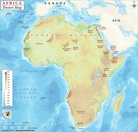 Map Of Africa With Deserts