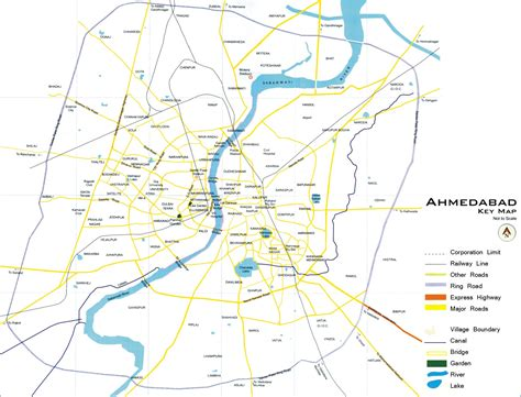 Map Of Ahemadabad