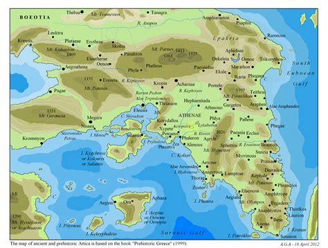 Map Of Ancient Attica