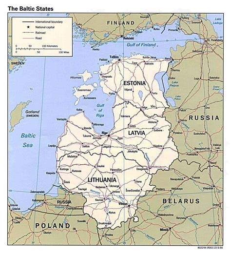 Map Of Baltic Republics